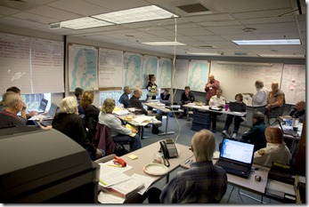 Vashon EOC in full operation during the June 5th 2012 Evergreen Quake Exercise. Photo ff_1283063 by John Cornelison