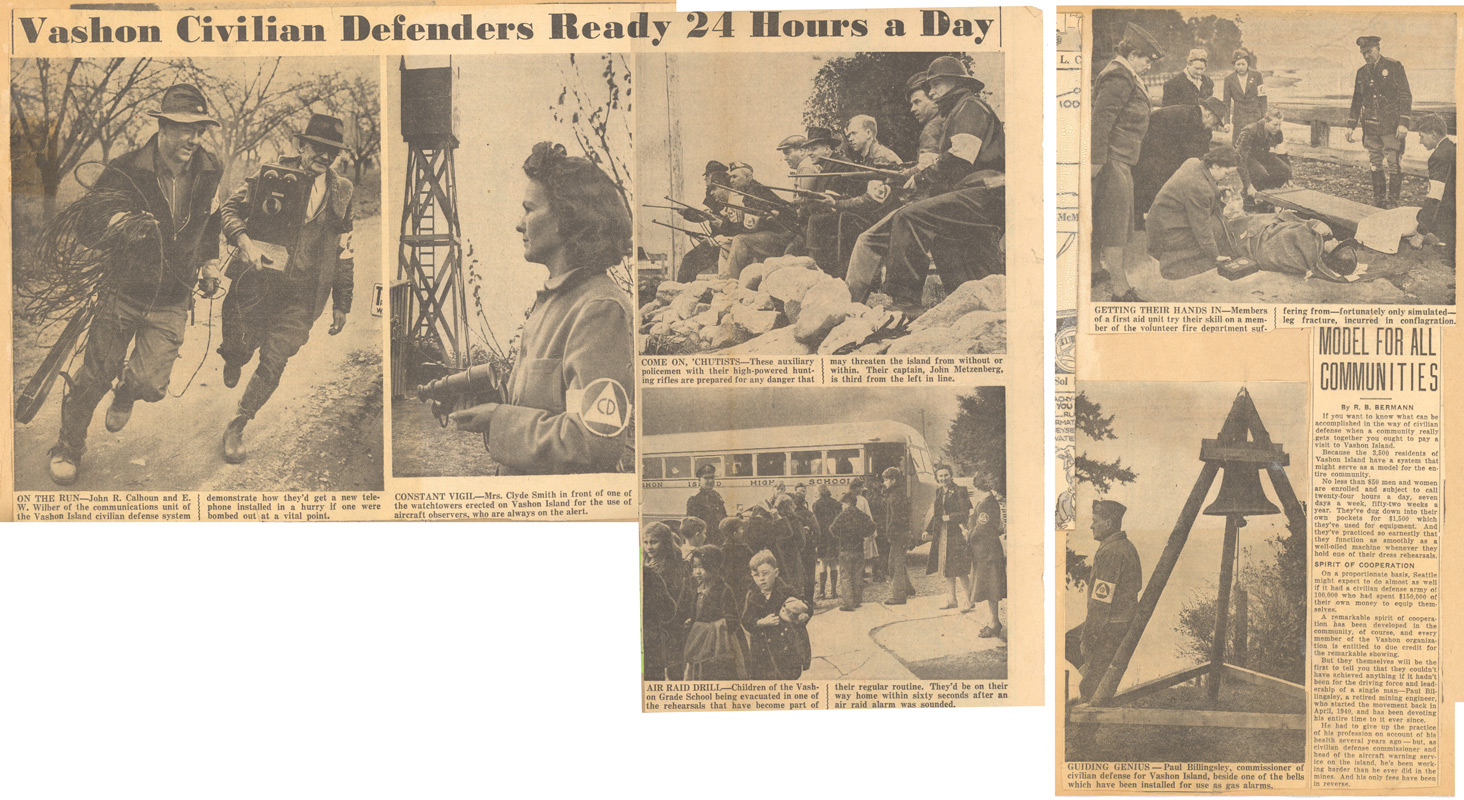 1940s Vashon Civil Defense Drills