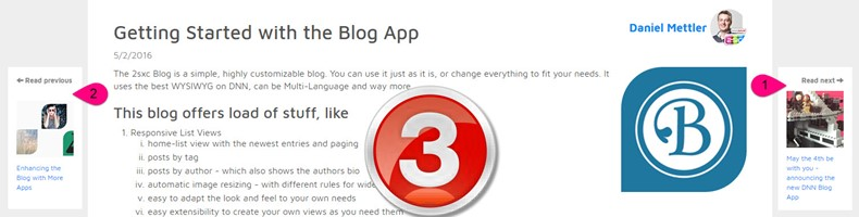 New Blog App 3.0 with Details-Paging, Open-Graph, Share-This and Very-Rich-Content